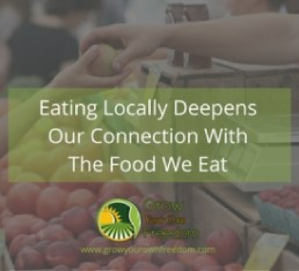 Environmental Benefits Of Eating Locally Grown Food